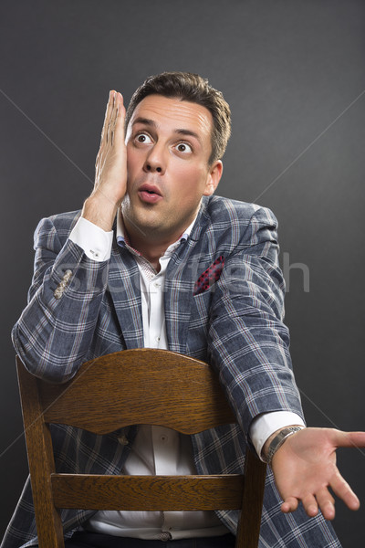 Surprised businessman Stock photo © photosebia