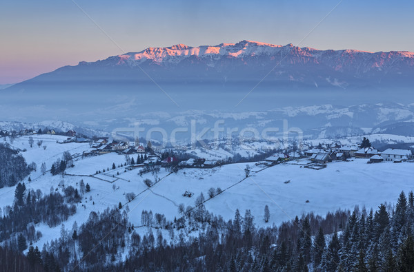 Bevroren Roemenië vallei bergen Stockfoto © photosebia