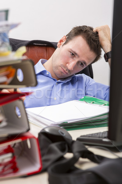 Overwhelmed businessman Stock photo © photosebia