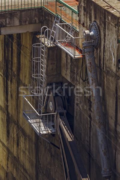 гидравлический механизм подробность промышленных ржавые конкретные Сток-фото © photosebia