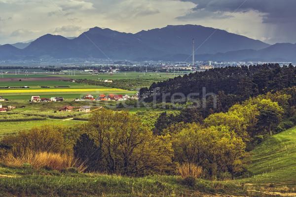 Rumano pintoresco paisaje primavera montana colina Foto stock © photosebia