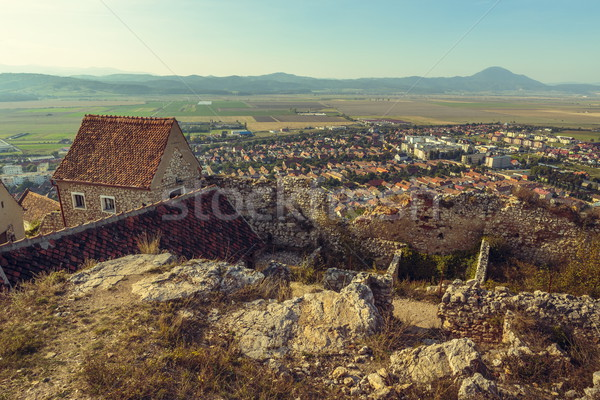 Ruins of Rasnov citadel Stock photo © photosebia