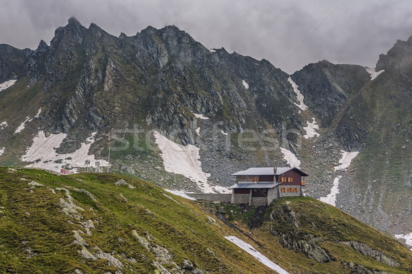 Mountain scenery with cottage Stock photo © photosebia