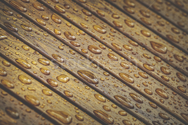 Water drops on wooden floor Stock photo © photosebia