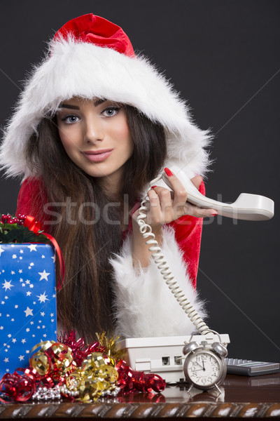 нет ответ Рождества портрет улыбаясь Сток-фото © photosebia