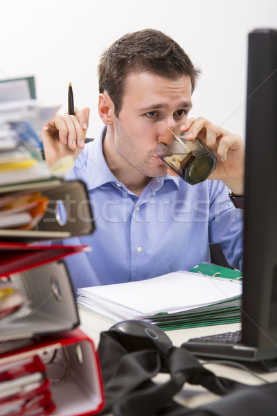 Confident accountant at work Stock photo © photosebia