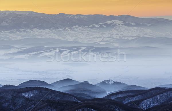 Winter mountain landscape, Transylvania, Romania Stock photo © photosebia