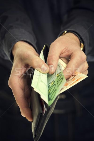 Recettes Homme mains sur 100 Photo stock © photosebia