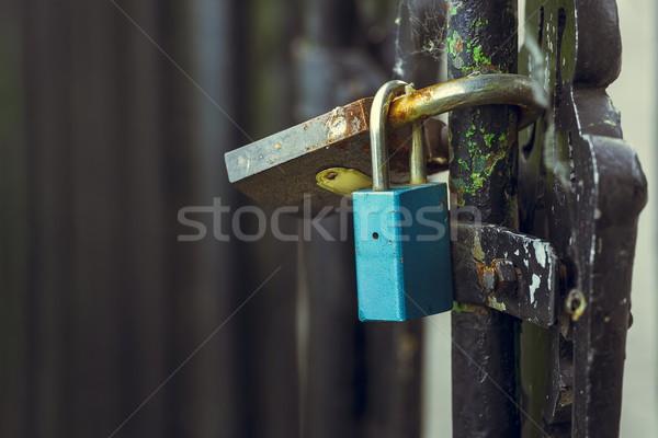 Padlocks of love on bridge Stock photo © photosebia