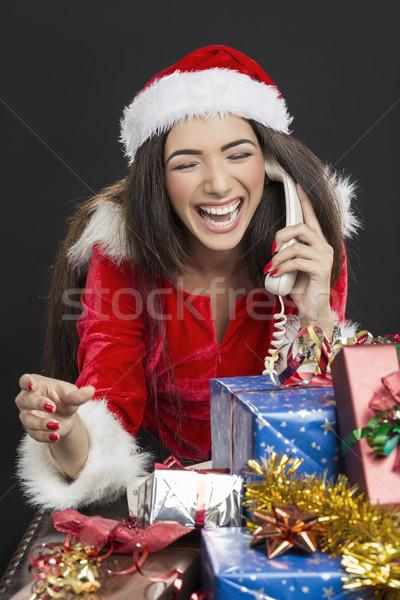 Funny phone call on Christmas Stock photo © photosebia