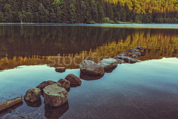 Peacefull lake landscape Stock photo © photosebia