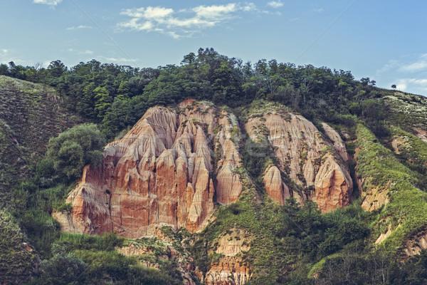 Stock photo: Unique reddish sandstone cliffs