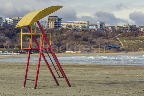 Abandoned weathered lifeguard tower Stock photo © photosebia