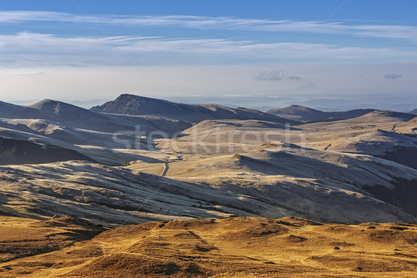 Alpine landschap sereen berg plateau dawn Stockfoto © photosebia