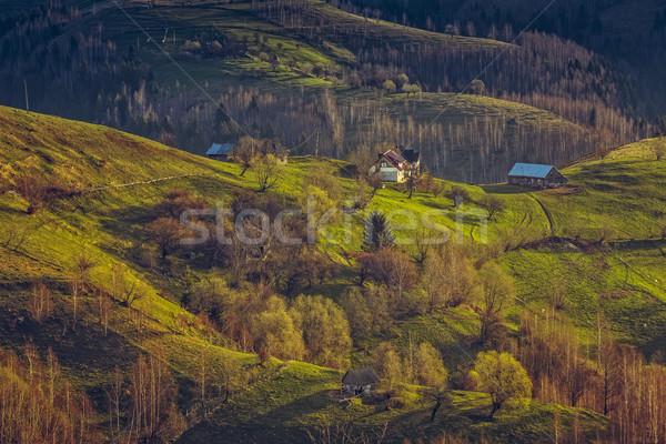 伝統的な ルーマニア語 山 穏やかな 春 農村 ストックフォト © photosebia