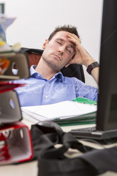 Falling  asleep at office Stock photo © photosebia