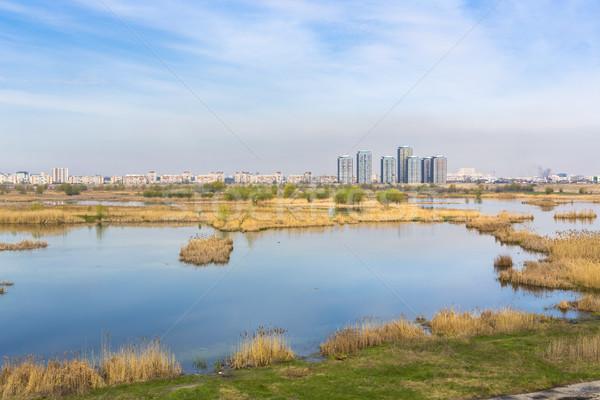 Stadsgezicht aquatisch milieu breed Boekarest Stockfoto © photosebia