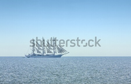 Three masted windjammer in full sails Stock photo © photosebia