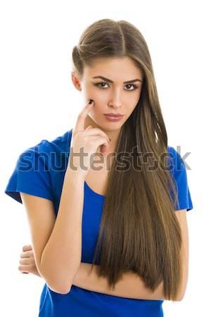Beautiful unsure woman Stock photo © photosebia