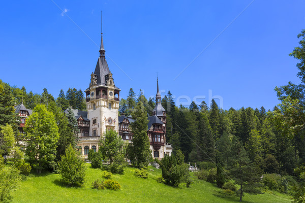 Peles castle, Sinaia, Romania Stock photo © photosebia