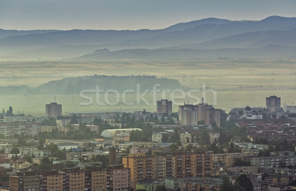 Foggy morning cityscape Stock photo © photosebia