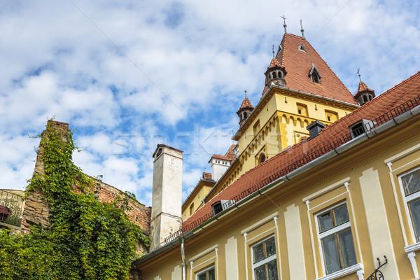 średniowiecznej architektury budynku Rumunia wieża płytek Zdjęcia stock © photosebia