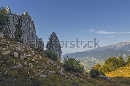 Pittoresque montagne paysage vertical roches Photo stock © photosebia