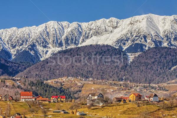 гор Румыния Солнечный зима пейзаж удаленных Сток-фото © photosebia