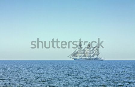 Three masted tall ship in full sails Stock photo © photosebia