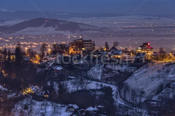 Winter nightfall Stock photo © photosebia