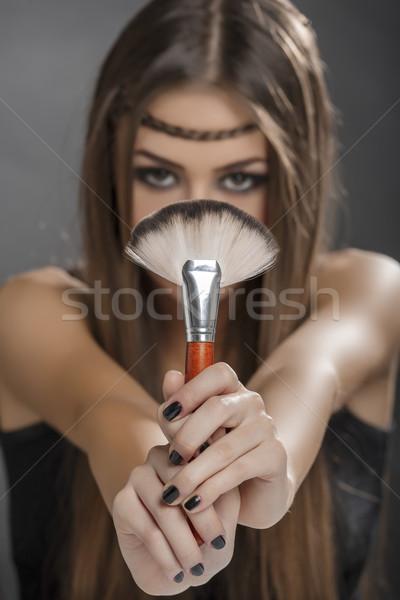 The perfect brush for makeup Stock photo © photosebia