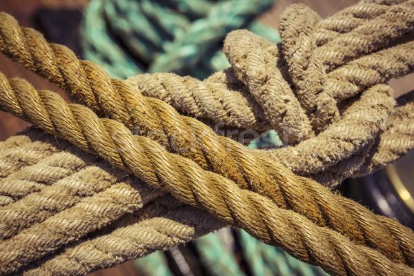 Marinha cordas nó usado vintage Foto stock © photosebia