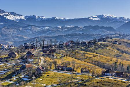 горные пейзаж румынский Солнечный утра Сток-фото © photosebia