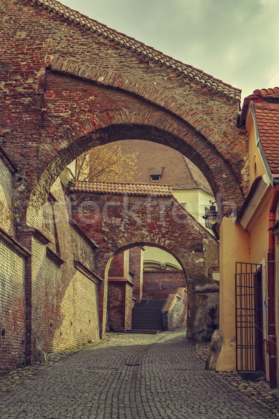 Street view, Sibiu, Romania Stock photo © photosebia