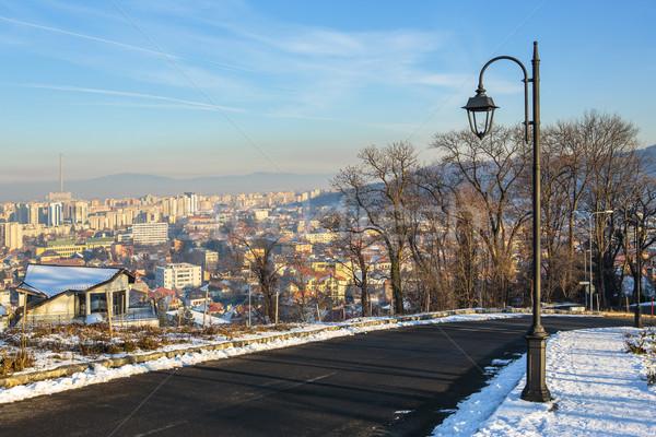 Winter cityscape in Brasov, Romania Stock photo © photosebia