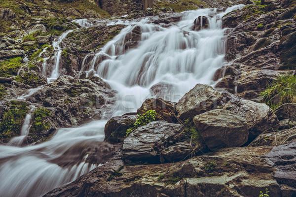 Majestic mountain stream waterfall Stock photo © photosebia