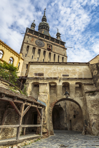 часы башни цитадель Румыния средневековых один Сток-фото © photosebia