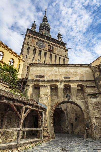 Clock Tower of citadel of Sighisoara, Romania Stock photo © photosebia