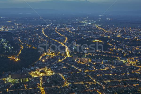 Nuit cityscape panoramique au-dessus historique Photo stock © photosebia