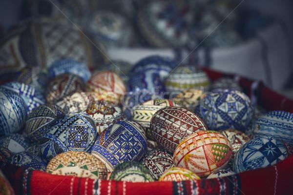 Painted Easter eggs Stock photo © photosebia