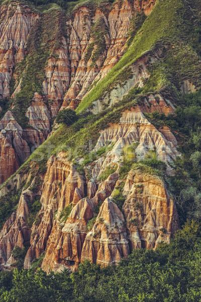 Rouge Roumanie scénique vue naturelles Photo stock © photosebia