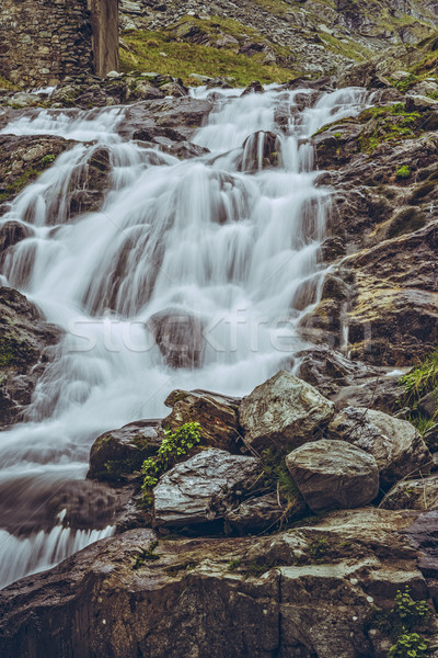 Majestueus berg stream waterval beroemd weg Stockfoto © photosebia