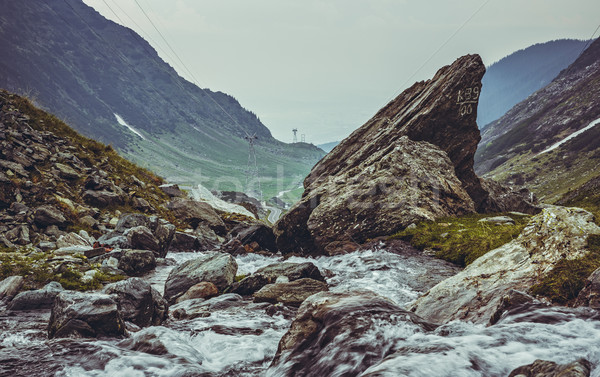 Mountain stream rapids,Transfagarasan, Romania Stock photo © photosebia