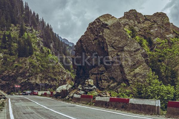 Route Roumanie montagne paysage élevé Photo stock © photosebia