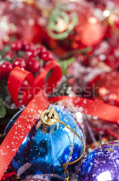 Foto d'archivio: Colorato · Natale · decorazione · neve · inverno