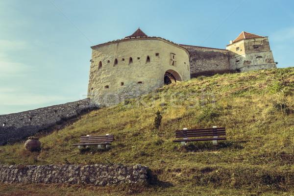 Rasnov medieval citadel, Romania Stock photo © photosebia