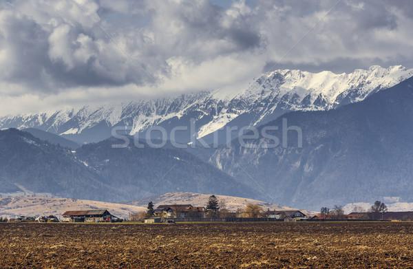 Spring rural landscape near Piatra Craiului mountains, Romania Stock photo © photosebia