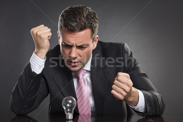 Woede beheer portret boos zakenman naar Stockfoto © photosebia
