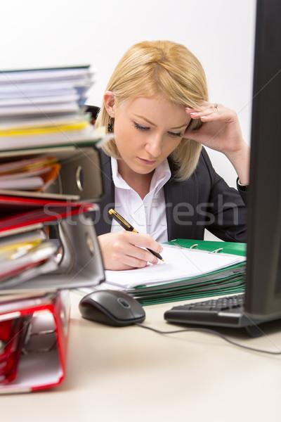 Busy businesswoman Stock photo © photosebia