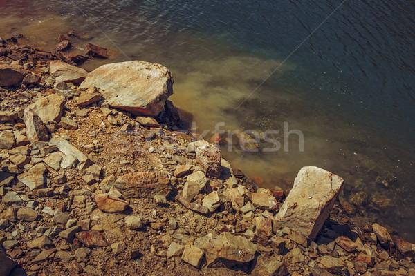 Rocky lake shore Stock photo © photosebia